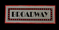 Broadway Sign to hire from Tiggs Props AN17. Annie