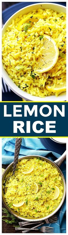 Lemon Rice Recipe - Bursting with lemon flavor, this is a ARROZ AL LIMÓN delicious way to turn plain rice into an exotic dish, and it's the perfect accompaniment to any meats and/or veggies. Easy Rice Recipes, Greek Recipes, Side Dish Recipes, Indian Food Recipes, Vegetarian Recipes, Cooking Recipes, Healthy Recipes, Rice Salad Recipes, Vegetarian Cooking
