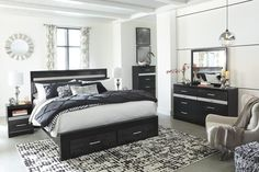 Shop for the [SPECIAL] Starberry Black Footboard Storage Platform Bedroom Set by Ashley at Luna Furniture! Enjoy No Credit Needed Financing & Same-Day Delivery* on many items!