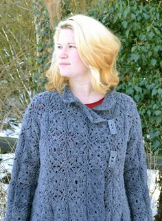 Anna Crochet Cardigan/Coat PDF Pattern by AmandaPerkinsDesigns