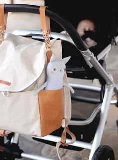 Kelli Murray + Leader Bag Co. Julien Backpack in Natural.