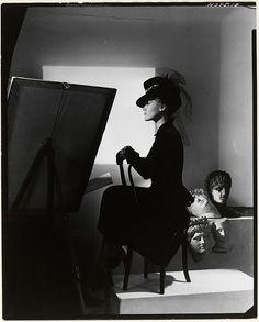 Horst P. Horst - Hat and coat-dress by Bergdorf Goodman, modelled by Estrella Boissevain, 1938