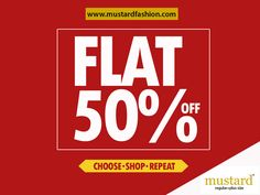 Take full advantage of this 50% #sale of #MUSTARD.