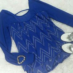 "Royal blue sheer top 23"" long from shoulders, longer in the back, scoop back, never worn Rue 21 Tops Blouses"