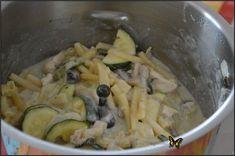 Macaronis au poulet sauce crémeuse