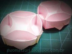 Gwo Matsuri - Cultura Oriental e Artes: Bowl de origami com divisórias -Tutorial Filiperson
