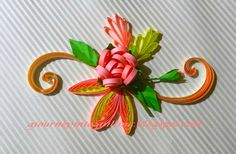 A Journey into Quilling & Paper Crafting: A Quilled Greeting For Thai Pongal