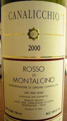2000 Canalicchio Rosso di Montalcino