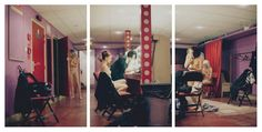 femme fougueuse - under the scene triptych by Tom Spianti