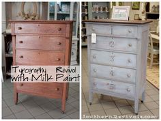 Southern Revivals: Typography Chest of Drawers An Anthropologie Inspired Revival - Shutter Gray