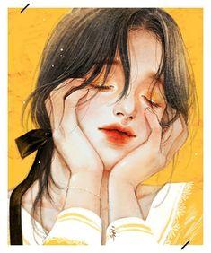 Aesthetic Drawing, Aesthetic Art, Anime Art Girl, Manga Art, Pretty Art, Cute Art, Digital Art Girl, Human Art, Cartoon Art