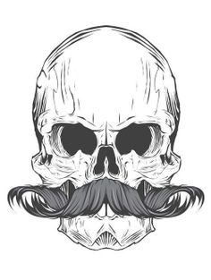 Skull Mustache - Joshua M. Smith