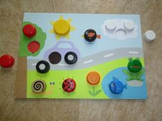 Vkladacka z PET viciek :) Preschool Colors, Montessori Activities, Infant Activities, Preschool Crafts, Preschool Activities, Summer Crafts For Kids, Art For Kids, Kindergarden Art, Toddler Activity Board