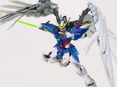 Supernova/Modelheart Wing Zero Custom by Rendy Iswanto Gundam, Yellow, Blue, Black And Grey, Zero, Wings, Anime, Painting, Painting Art