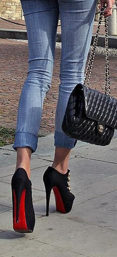 Loubo and chanels street style, brilliant ♥✤ | Keep the Glamour | BeStayBeautiful