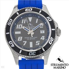 STRUMENTO MARINO CORALPROOF Collection Brand New Gentlemens Date Watch