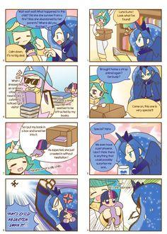 Humanized pony comic 1, 2 by HowXu on DeviantArt