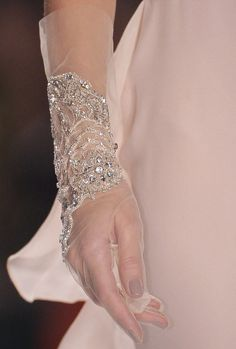 ♀ Pastel Peach Fashion Badgley Mischka Spring 2013 Details
