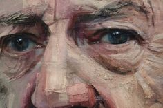 Lisa Hannigan (detail) oil on linen by Colin Davidson. Love how it moves from a detailed eye out into painterly strokes.