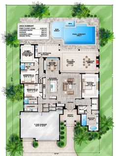 Plan 86027BW: Florida Living with Wonderful Outdoor Space