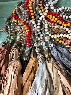 Well, I'm able to offer many more of your favorite colors before the Holidays!!!  I was busy last nite after getting home from Los Angeles....I was in major tassel mode to be honest. These color tones have been quite popular in my shop, mostly because of their versatility. This tassel