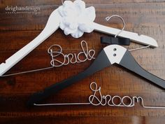 HOLIDAY SALE SET Bride and Groom Hangers-Tuxedo Hanger, Hanger with Flower -Engagement Gift, Shower Gift, Bride Hanger,Bridal Hanger