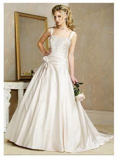 Custom-made Wedding dress Off-shoulder Wedding gown Bridal dress Wo070