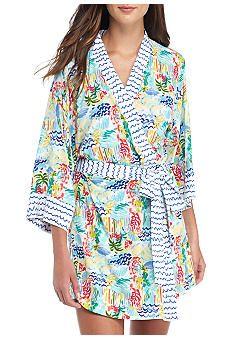 Echo® Printed Kimono Robe