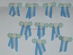 Escarapelas Artesanales En Porcelana Fria - $ 180,00 en Mercado Libre Baby Shower, Shibori, Tapas, Google, Cold, Molde, Painted Bottles, Ornaments, Diy Crafts