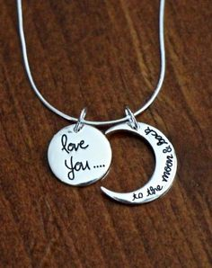 15% off today and tomorrow I love you to the moon and back necklace