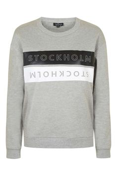 Stockholm Motif Sweatshirt - Topshop