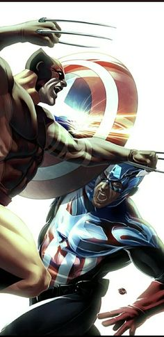 Wolverine and Captain America