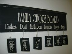 Chore Chart...what a good idea...definitely want to remember this for future reference :)