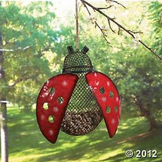 Ladybug Hanging Bird Feeder, Yard Decor, Party Decorations, Party Themes & Events - Oriental Trading