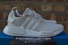 Adidas NMD R1 W  Off White Cream Tan Primeknit Core Black Triple White S76007