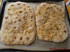Foccacia s dýní a vlašskými ořechy - Mňamky-Recepty. Bread, Meals, Recipes, Meal, Breads, Baking, Yemek, Recipies