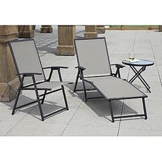 Garden Oasis -Hinton Sling Folding Chaise
