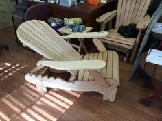New Adjustable Gliding Adirondack Chair #AdirondackChair