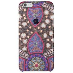 """Title : 20 Australian Abstract Blue Fabric.JPG Clear iPhone 6 Plus Case  Description : I have placed my Australian, Aboriginal designs in a NEW Category. They are full of Bright, Bold, Colorful, Abstract-Patterns, Animal-Motifs, To help you in your search for similar products use such key words as: Specific Color, """"Tribal-Art"""", Outback Themes, Aboriginal Art and Illustrations. If you want to add Color to Any Home and/or Fashions, consider the hot designs of """"Down-Under""""!  Product…"""