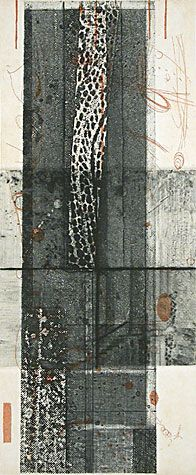 Rosalyn Richards. Segments, 2001. Etching. Edition of 20. 9-1/2 x 4-7/8 inches.