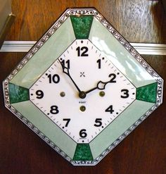 Original porcelain Clock immaculate condition Germany 1920s | Sold Items Art Deco Clocks | Art Deco Collection