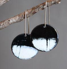 Enamel Earrings,handmade jewelry, enamel earrings, ladies' earrings, colorful jewelry,
