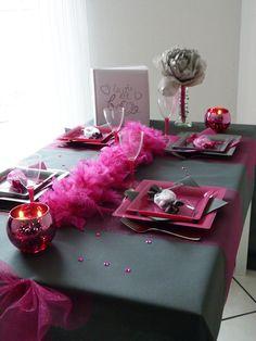 Mariage anthracite et fuchsia. Découvrez nos produits sur www.feezia.com