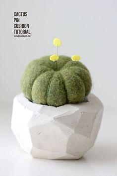 Geometric Cactus Pin Cushion TUTORIAL - Delia Creates