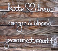 Personalized Length of Silver Wire for the DIY Wood Wire Wedding Dress Hanger Custom Bridal Great for Bridesmaids - wedgift Bridal Hangers, Wedding Dress Hanger, Wedding Hangers, My Funny Valentine, Valentine Gifts, Valentines Day, Wedding Ring For Him, Diy Wedding, Wedding Events