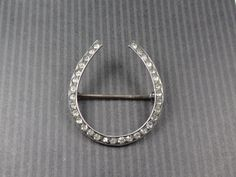 Vintage Sterling Horseshoe Pin Sterling Silver by BelmarJewelers