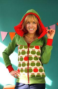 """Warme Jacken - KAPUZENJACKE """"APPLE GREEN"""" - ein Designerstück von Bonnie-and-Buttermilk bei DaWanda"""