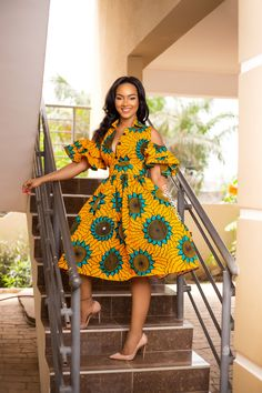 African print fashion dresses African clothing for women/ African prints dress for prom / African Fashion Designers, African Print Fashion, Africa Fashion, Tribal Fashion, Modern African Fashion, African Inspired Fashion, African Attire, African Wear, African Women