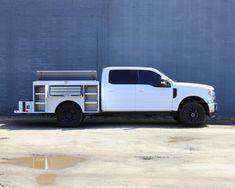 7' Douglass Service Body with Fliptops - Douglass Truck Bodies Custom Truck Beds, Custom Trucks, Utility Truck Beds, Welding Beds, Diesel Trucks, Pickup Trucks, Bodies, Trophy Truck, Fire