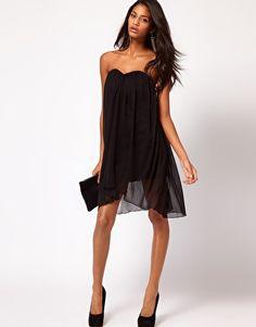 Enlarge ASOS Strapless Dress In Mesh
